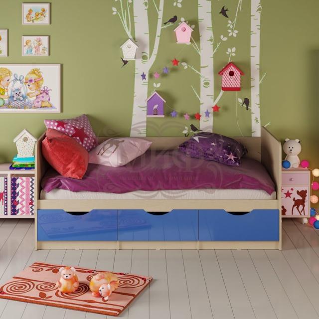 Кровать Дельфин с ящиками (2,0*0,8)